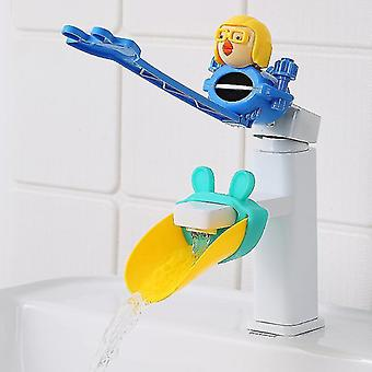 Cartoon Water Tap Extender Baby Hand Washing Faucet Extension Water Pipe Étanche aux éclaboussures (#01)