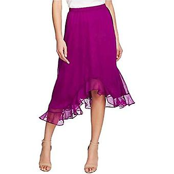 Vince Camuto Womens Chiffon Asymmetrical Hem Maxi Skirt