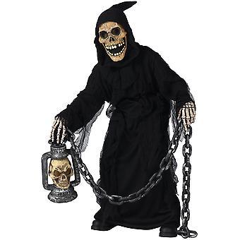 Grab Ghoul Sensenmann Geist Skelett Halloween Kleid Kinder Jungen Kostüm