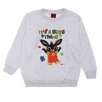 Officiella Kids Bing Crewneck Sweatshirt - Det är en Bing Sak - Pojkar Flickor