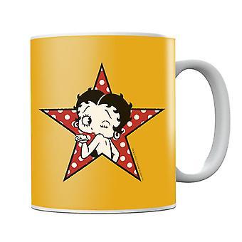 Betty Boop Wink Polka Dot Star Mug