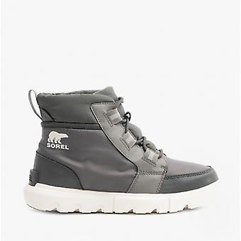 Sorel Explorer Ii Carnival Ladies Waterproof Ankle Boots Quarry/sea Salt