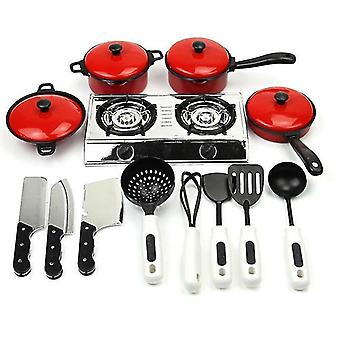 13pcs Of Set Of Kitchen Cooking Utensils Play House Toy