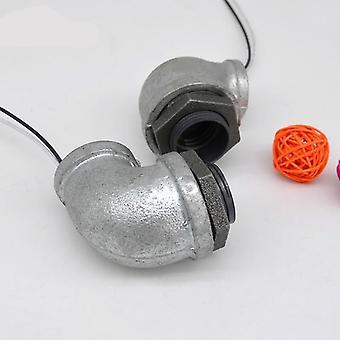 Plastic Galvanized Lamp Holder Screw- Light Bulb Socket Pipe