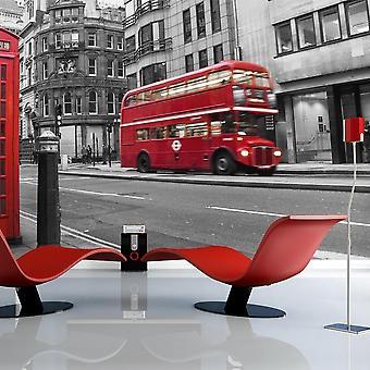 Tapeter - Telefonkiosk och dubbeldäckare buss: London