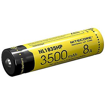 Nl1835pk High Performance 18650 3500mah 3.6v 12.6wh 8a Protected Li-ion Button