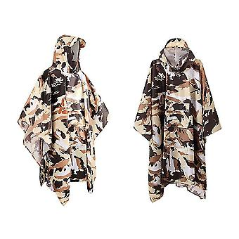Hooded Rain Poncho Wasserdichter Regenmantel (Camouflage)
