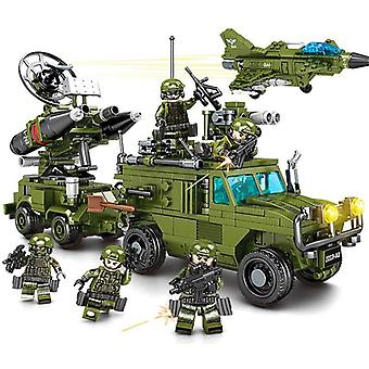 819PCS Educational Building Blocks Toys For Kids DIY Birthday Gift Truck Plane Vehicle