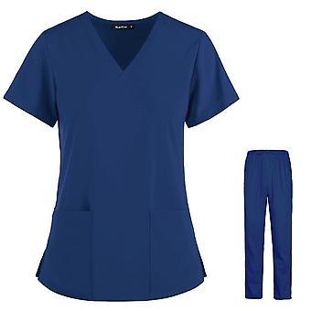Nurse Uniform Women Short Sleeve Neck Tops Working Uniform