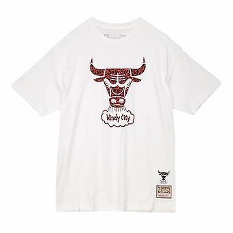 Mitchell & Ness Chicago Bulls Wild Life Tee BMTRDL19084CBUWHIT universell hele året menn t-skjorte
