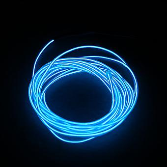 5m Colorful Flexible El Wire Tube Rope Neon Light Glow Controller Party Decor