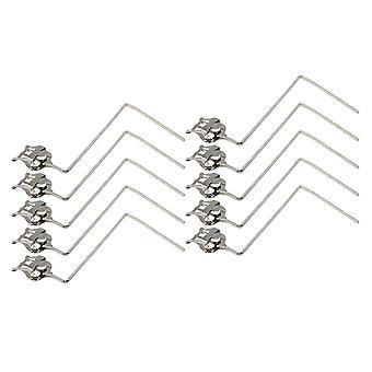10 X metall tuba marsjerer lyre 3 vertikale taster noter klipp holdere