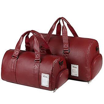 大きな赤いプーメンズハンドバッグトラベルバッグ