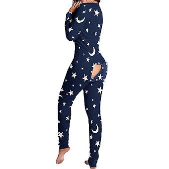 Women Animal Pajama One Piece Christmas Bodysuit Jumpsuit Long Sleeve Sleepwear