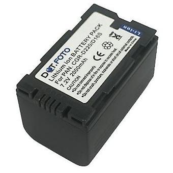 Dot.Foto Panasonic CGR-D16S, CGR-D210, CGR-D220 batteri - 7.2V / 2000mAh