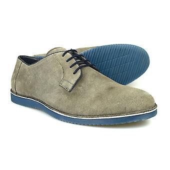 Silver Street London Jackson Mens Grey Suede Casual Shoes