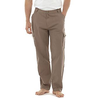Mens Tom Franks Plain Print Summer Cotton Twill Outdoor Cargo Trousers