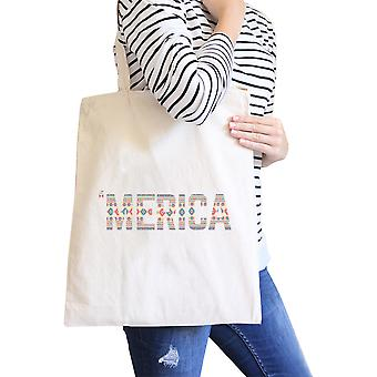 With 'merica Natural Tribal Pattern Canvas Bay For Independence Day