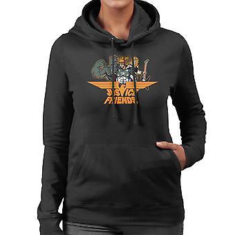 デックスターズラボ研究所正義の友人女性フード付きスウェット シャツ