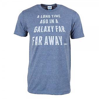 Star Wars Mens Star Wars, muito longe, T camisa Heather azul