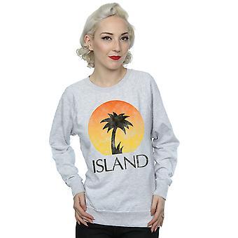 Island Records Women's Distressed Logo Sweatshirt