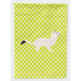 Stoat Short-tailed Weasel Green Flag Canvas House Size