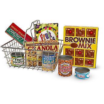 Melissa & Doug Shopping Basket with Food