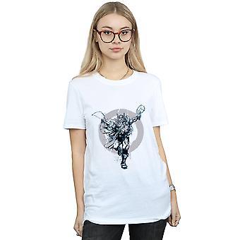 Marvel Women's Thor Circle Boyfriend Fit T-Shirt