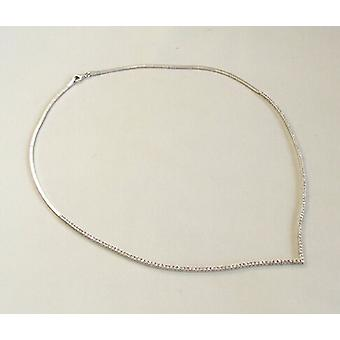 White Gold cubic zirconia necklace