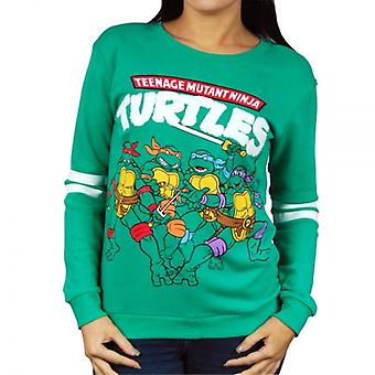 Teenage Mutant Ninja Turtles Womens Retro Teenage Mutant Ninja Turtles Sweatshirt groen