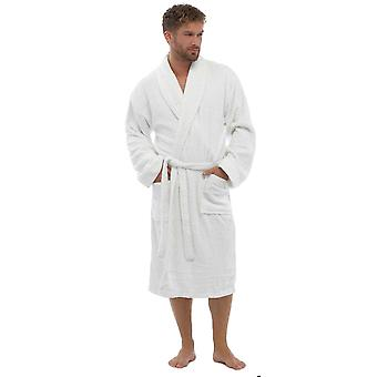 Tom Franks Mens Cotton Toweling Nightwear Bathrobe Dressing Gown