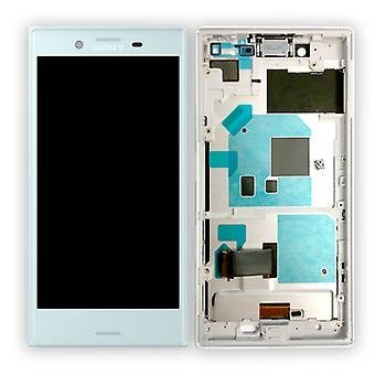 Sony Display LCD Komplett Einheit mit Rahmen für Xperia X Compact F5321 Blau Ersatzteil