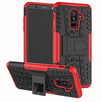 Para Samsung Galaxy A6 mais A605 2018 híbrido caso 2 pedaço SWL exterior do saco vermelho capa case proteção