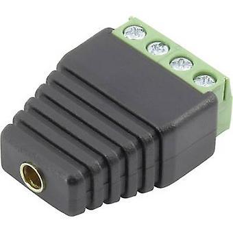 Conrad Components 93013c1126 Jack socket Connector, straight Pin diameter: 4 mm Black 1 pc(s)