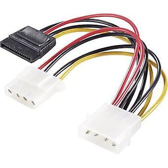 Adattatore Renkforce Current Y [1x IDE Power Plug 4 pin - 1x presa di alimentazione SATA, socket di alimentazione IDE 4 pin] 15,00 cm Nero, Rosso, Giallo