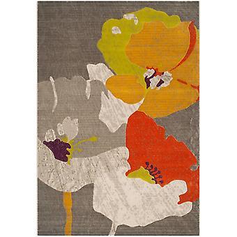 Webteppich Kurzflor Wohnzimmer Indoor Teppich bunt Blumen Indoor Rugs - Pacific Orchid Multicolor 124 / 183 cm  - Teppich für den Wohnbereich innen
