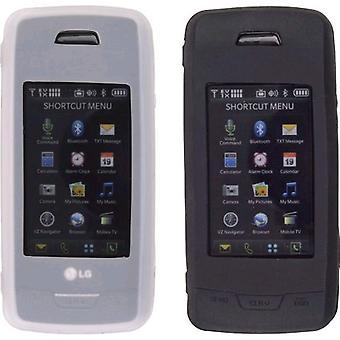 Draadloze oplossingen Premium Gel Case voor LG VX10000 (2 Pack) - zwart/wit