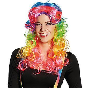 Dziwaczne kolory barwione długie włosy peruki panie akcesoria karnawałowe Halloween