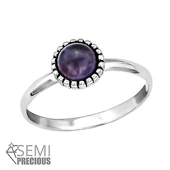Round - 925 Sterling Silver Jewelled Rings - W30312X