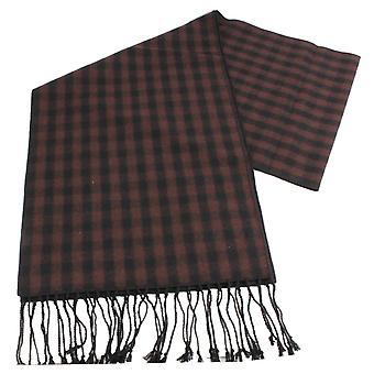Écharpe en laine Tartan Knightsbridge Neckwear - brun/noir