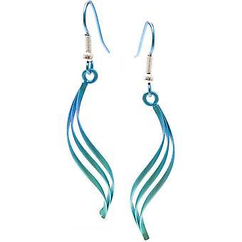 TI2 Titanium Wirework Doppeldreheinschlag Ohrringe - Grün