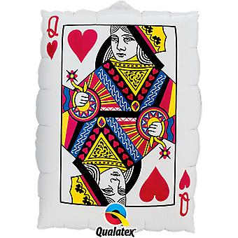 Qualatex 30 Inch Queen Of Hearts Balloon
