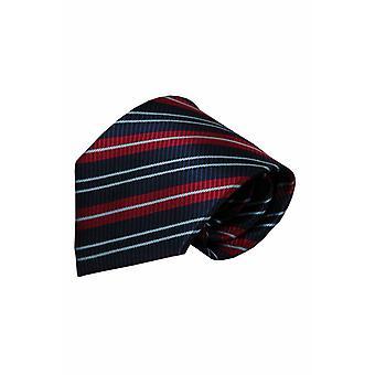 Blauwe zijden stropdas Piacenza 01