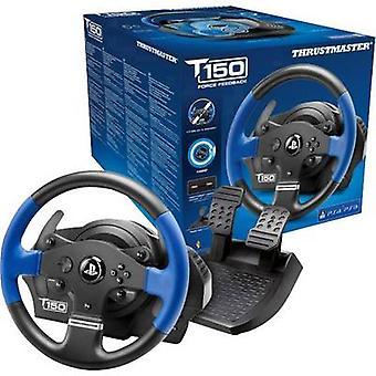 Thrustmaster T150 RS Force Feedback volan USB 2,0 PlayStation 3, PlayStation 4, PC negru/albastru incl. pedale picior