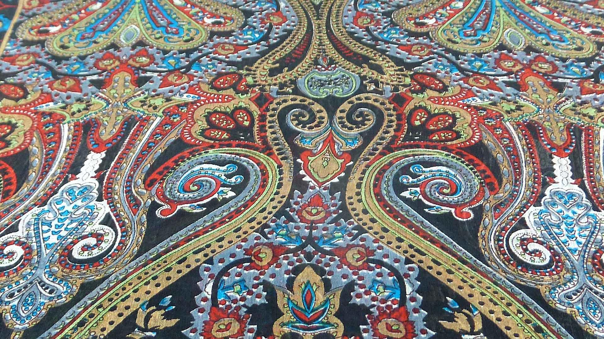 Mulberry Silk Traditional Long Scarf Worli Black by Pashmina & Silk