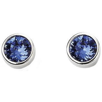 Beginnings September Swarovski Birthstone Earrings - Silver/Blue