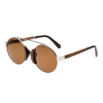 Earth Wood Talisay Polarized Sunglasses - Silver/Brown