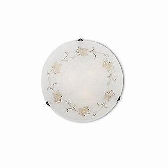 Ideal Lux - Foglia grande ronde murale / plafonnier blanc décoré de verre IDL013817