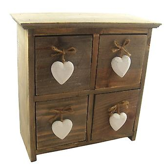 Heaven Sends Rustic 4 Drawer Decorative Cabinet