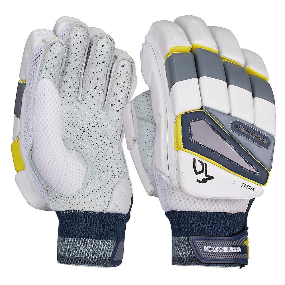 Kookaburra 2019 Nickel 2.0 Cricket Batting Gloves White/Grey